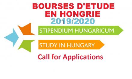 Bourses d'étude en Hongrie 2019/2020